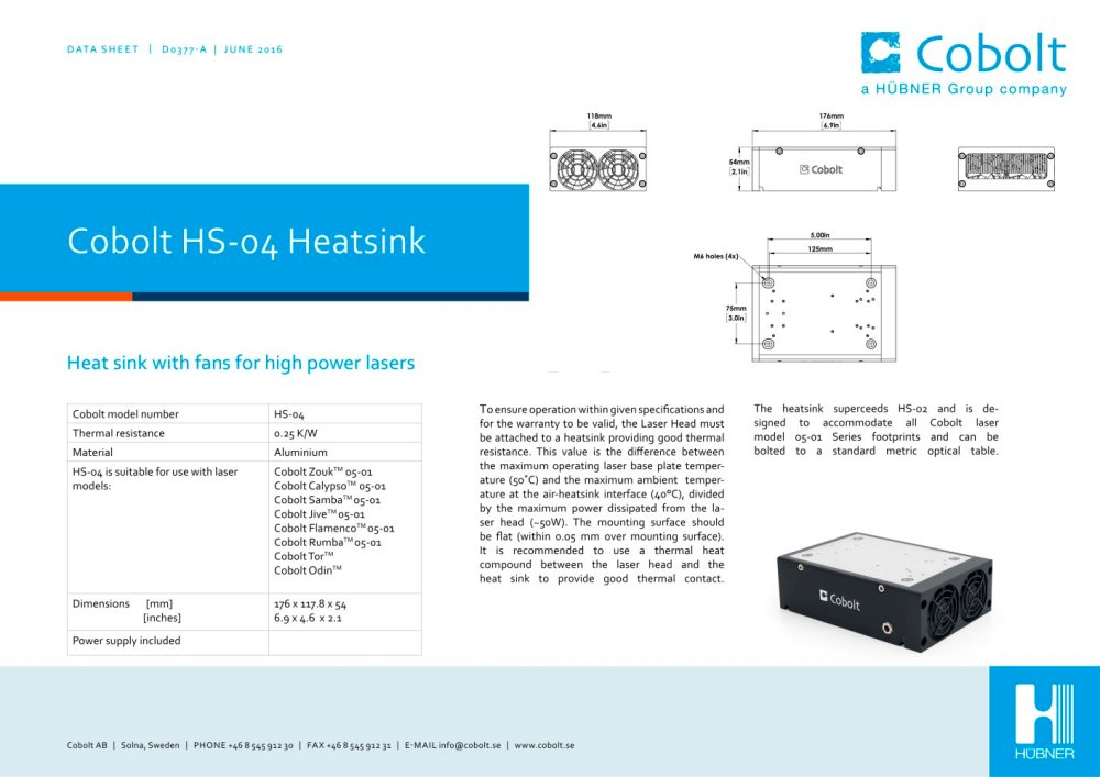 medium resolution of hs 04 laser head heatsink with fan 1 1 pages