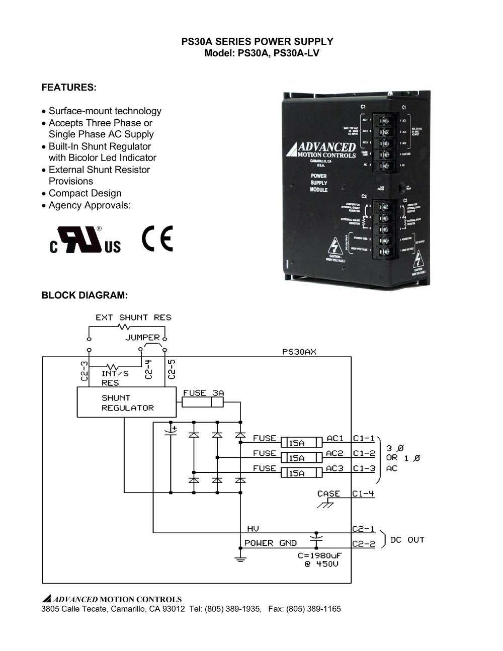 medium resolution of ps30a series power supply model ps30a ps30a lv 1 3 pages
