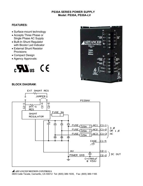small resolution of ps30a series power supply model ps30a ps30a lv 1 3 pages