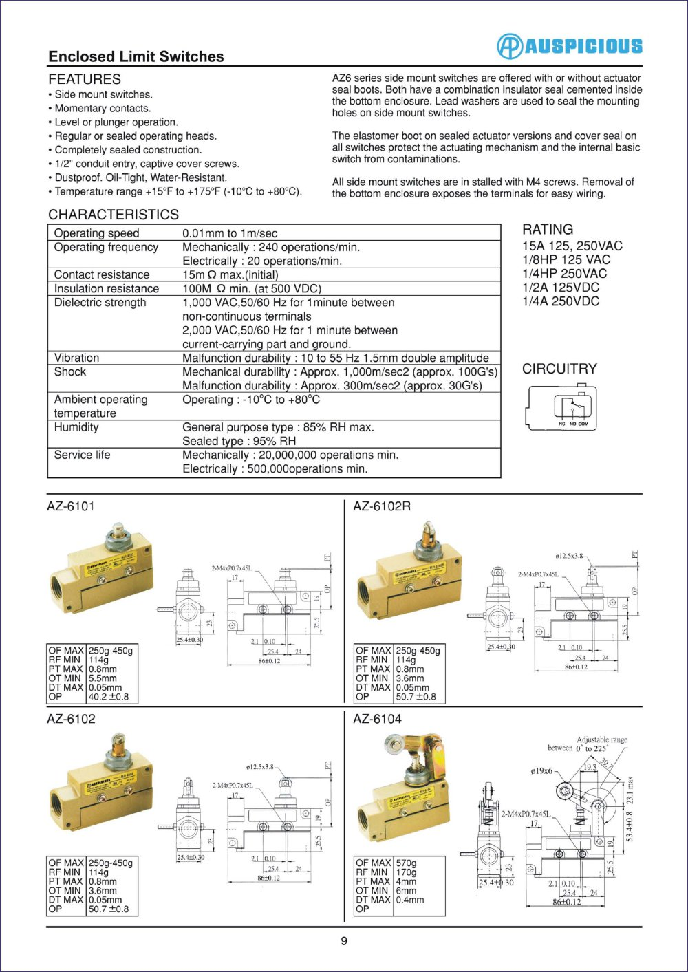 hight resolution of enclosed limit switches 1 1 pages