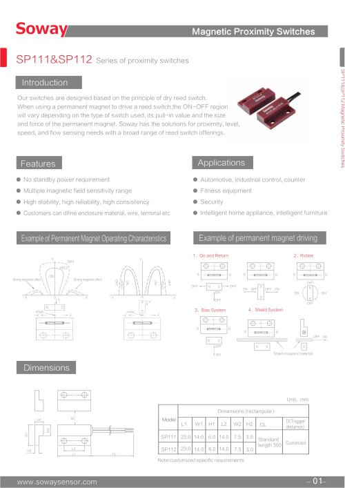 small resolution of soway magnetic proximity switch sp111 sp112 1 2 pages
