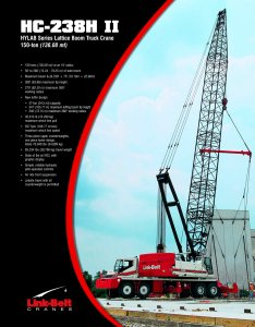 Link belt hc  ii ton mt lattice boom truck crane pages also rh pdfindustry