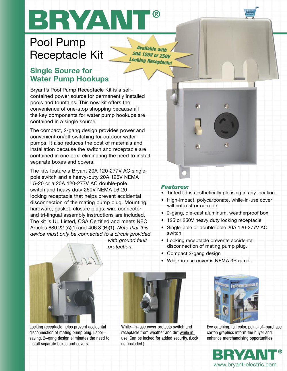 hight resolution of pool pump receptacle kit 1 2 pages