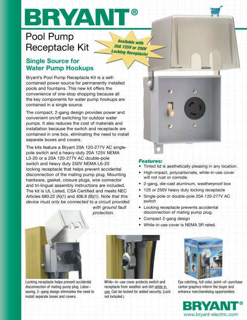 small resolution of pool pump receptacle kit 1 2 pages