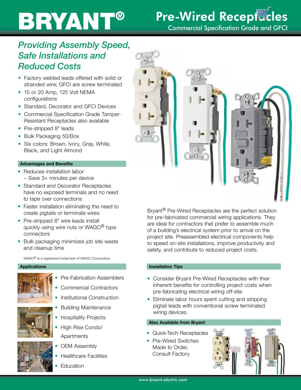 hight resolution of pre wired receptacles 1 2 pages