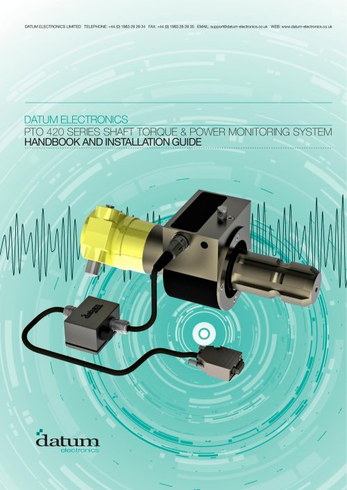 small resolution of datum power take off pto monitoring system 1 18 pages