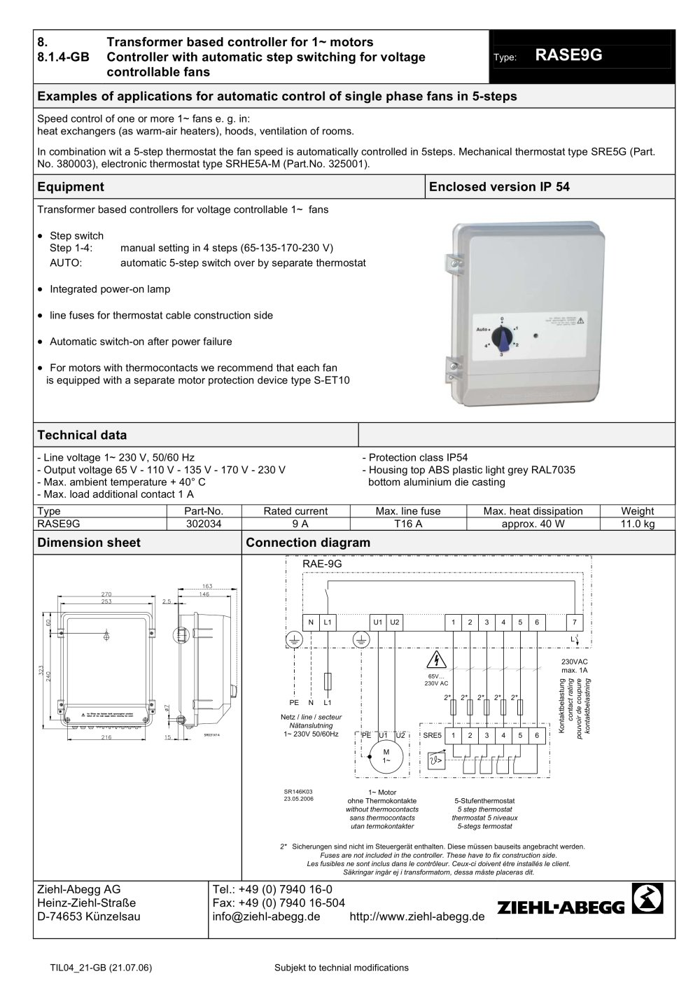 medium resolution of rase9g ziehl abegg pdf catalogs technical documentation brochure rh pdf directindustry com ziehl abegg axial fan wiring diagram ziehl abegg fans 480 volts 3