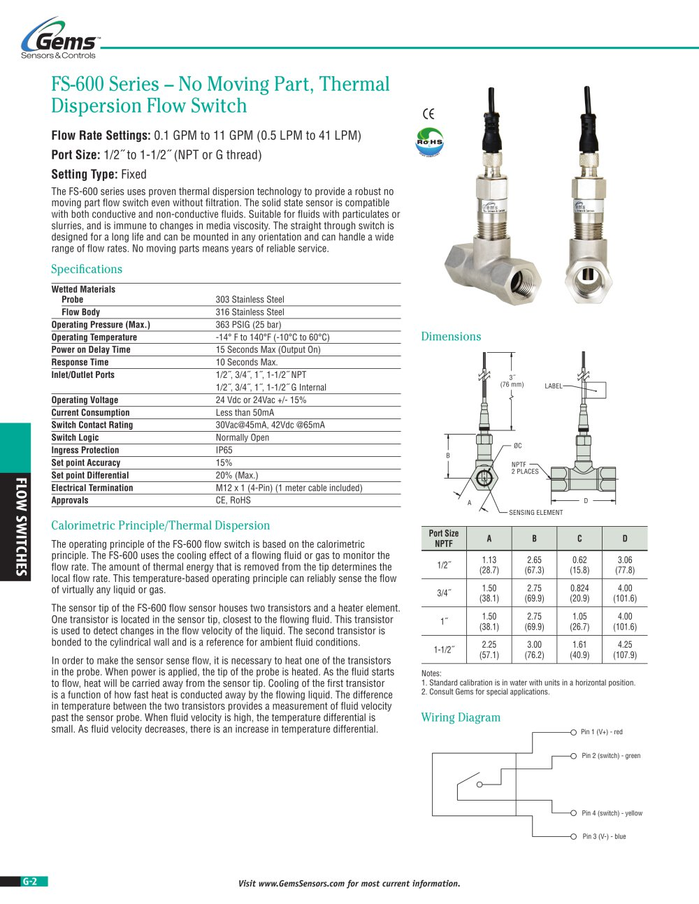hight resolution of fs 600 no moving parts flow switch gems sensors controls pdf 2002 ford explorer window diagram gem sensors wiring diagrams