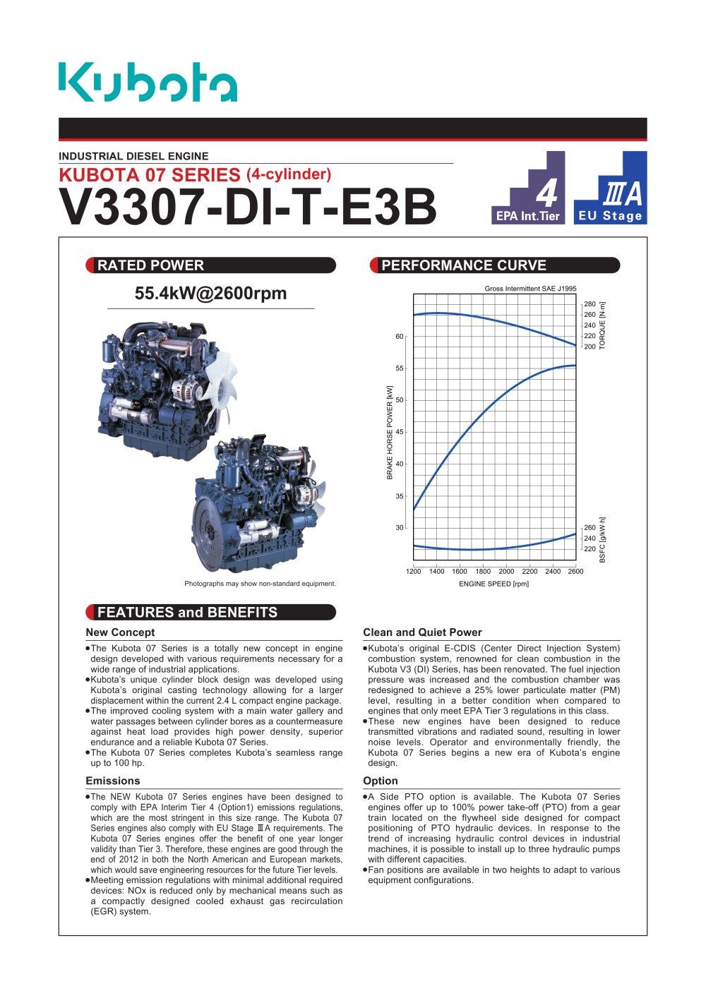 hight resolution of v3307 di t e3b kubota engine catalogue technical v1505 manual