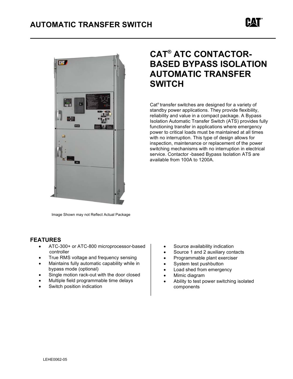 medium resolution of atc contactor based bypass isolation transfer switch 1 5 pages