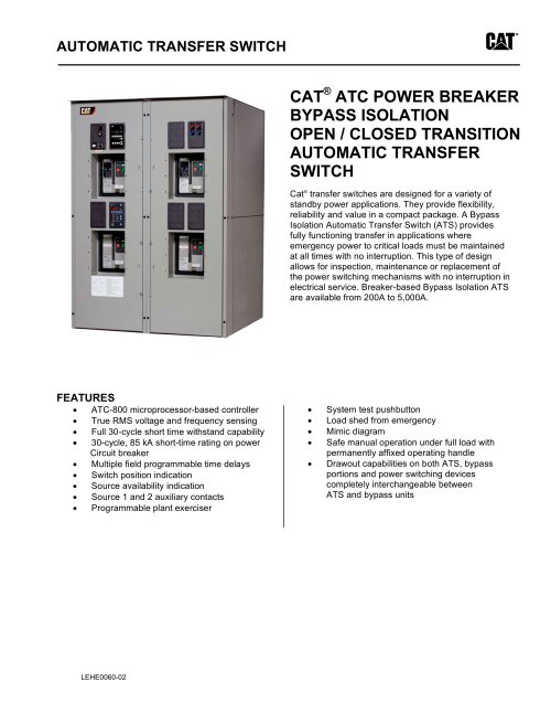small resolution of atc power breaker bypass isolation open closed transition automatic transfer switch 1 4
