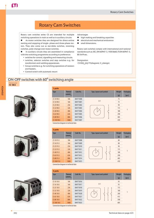 small resolution of rotary cam switches eti pdf catalogue technical documentation wiring diagram rotary cam switch rotary cam switches