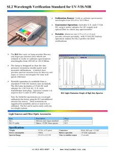 Sl wavelength verification standard for uv vis nir pages also stellarnet rh pdfindustry