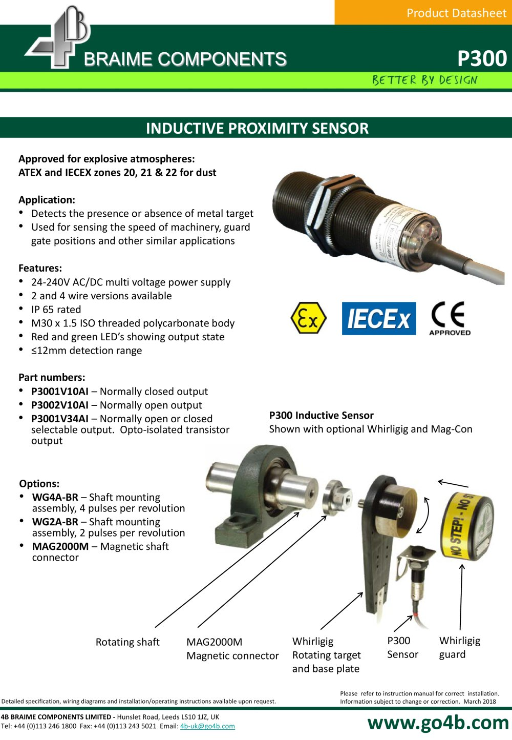 hight resolution of p300 inductive proximity sensor 1 3 pages