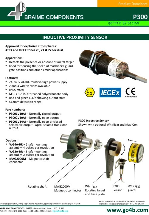 small resolution of p300 inductive proximity sensor 1 3 pages