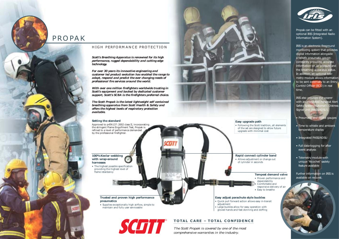 hight resolution of propak self contained breathing apparatus