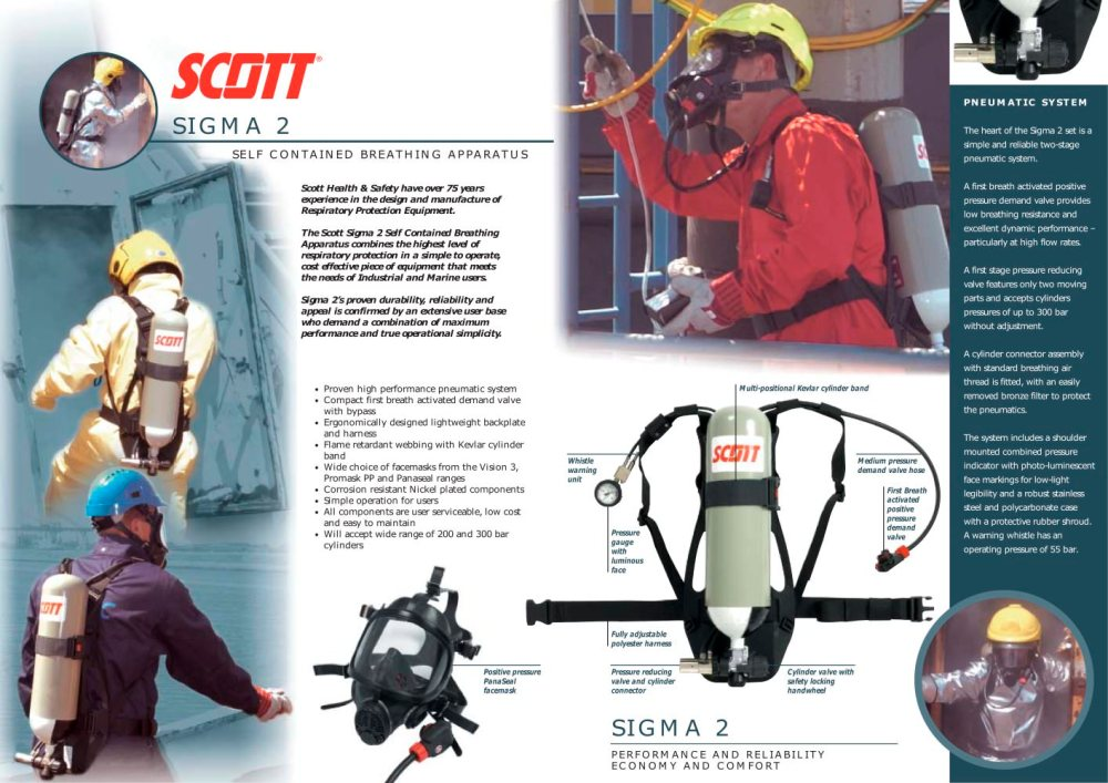 medium resolution of sigma 2 self contained breathing apparatus