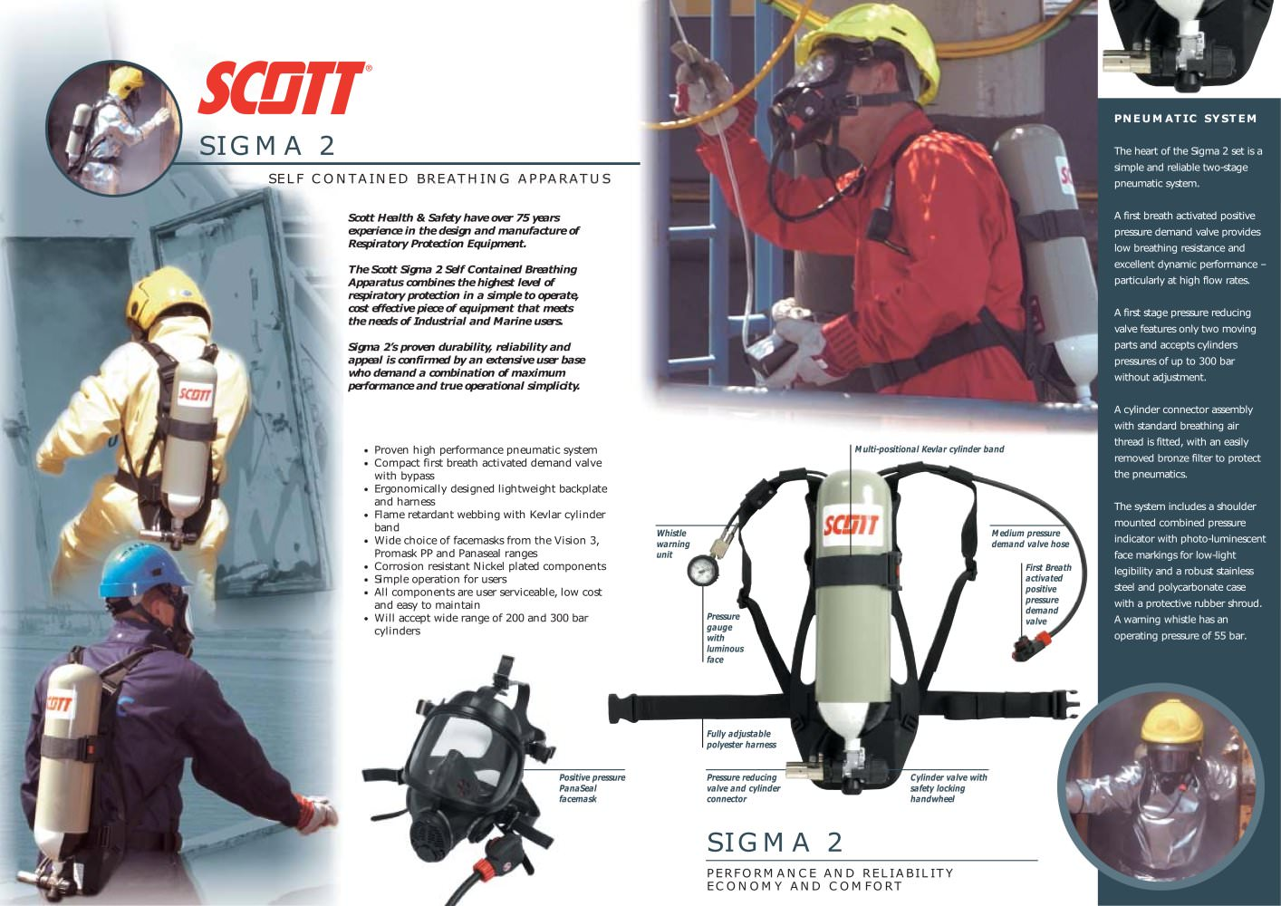 hight resolution of sigma 2 self contained breathing apparatus