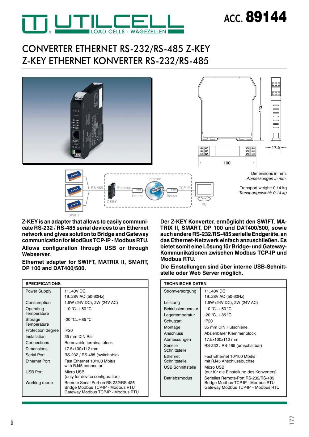 hight resolution of converter ethernet rs 232 rs 485 z key 1 1 pages