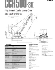 Crawler crane cch ii pages also ihi construction machinery limited pdf rh pdfindustry
