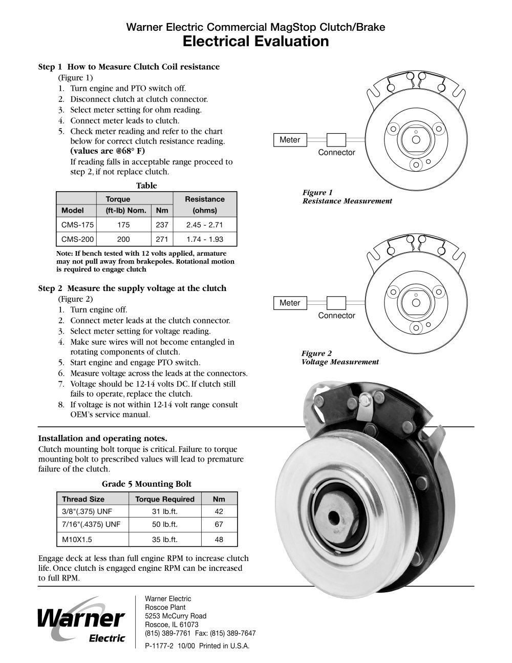 medium resolution of magstop clutch brake 1 2 pages