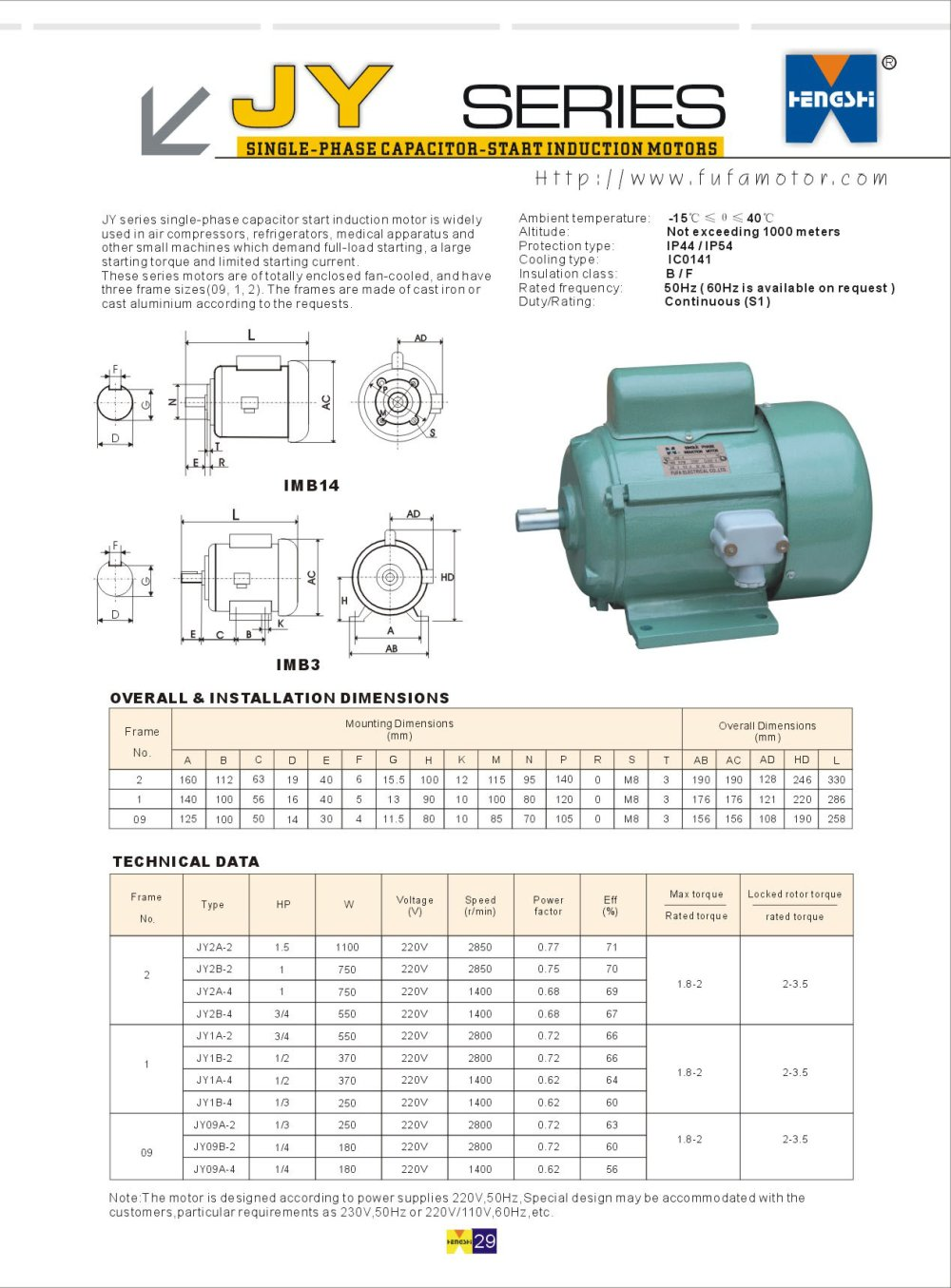 medium resolution of jy series single phase capacitor start induction motors 1 1 pages