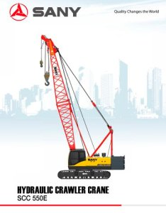 Sany brand scc  tons crawler crane for construction also rh pdfindustry