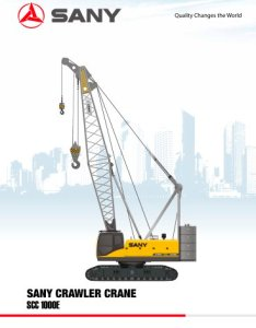 Sany scc  tons crawler crane also pdf catalogue rh pdfindustry