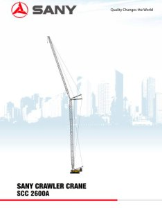Sany scc  crawler crane also pdf catalogue technical rh pdfindustry