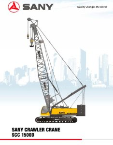 Scc  tons crawler crane also sany pdf catalogs technical rh pdfindustry