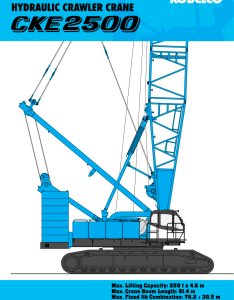 Cke hydraulic crawler crane pages also kobelco cranes pdf catalogue rh pdfindustry