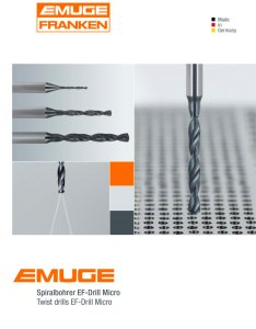 Emuge twist drills ef drill micro pages also franken pdf catalogue rh pdfindustry
