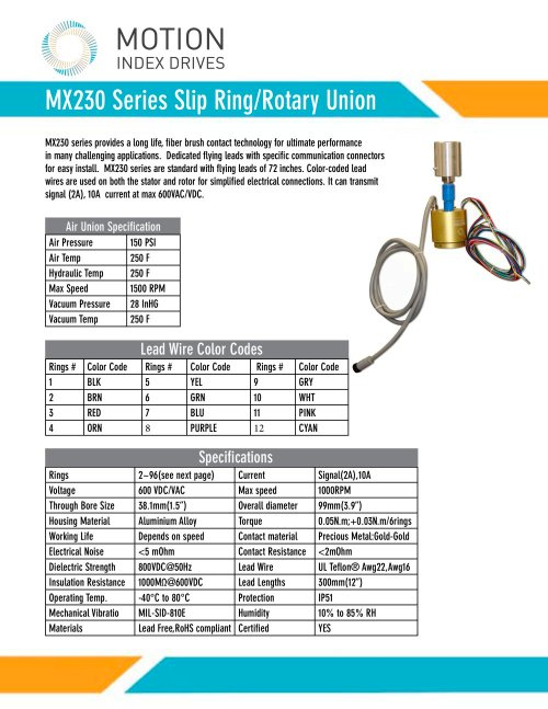 small resolution of mx230 slip ring brochure 1 2 pages