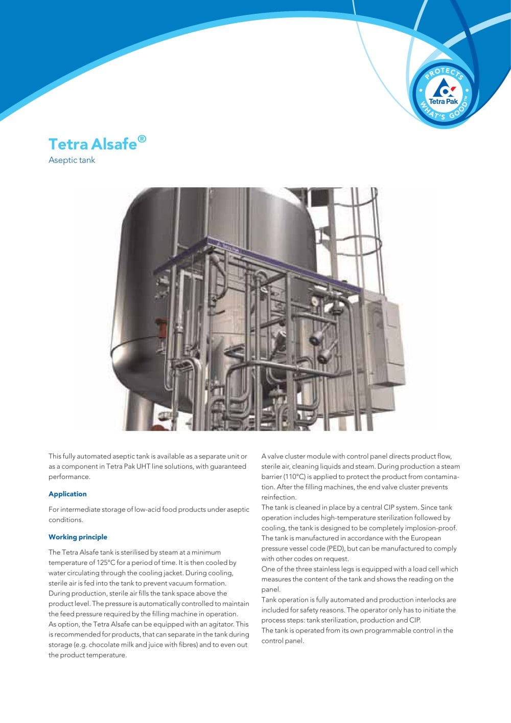 medium resolution of tetra alsafe aseptic tank 1 2 pages