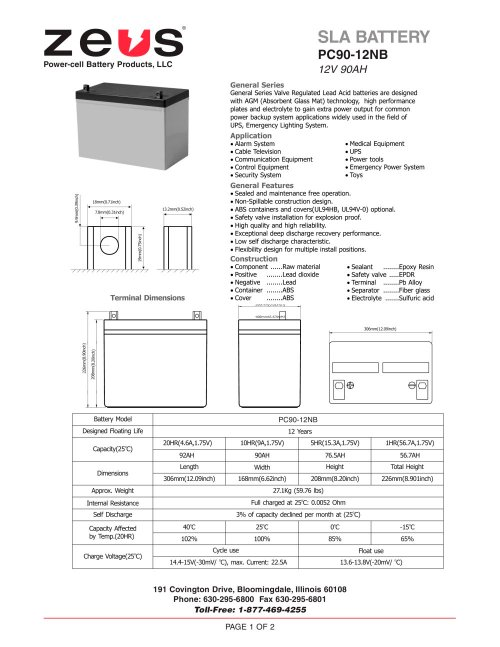 small resolution of pc90 12nb 12 volt 90 ah sealed lead acid battery 1 2 pages