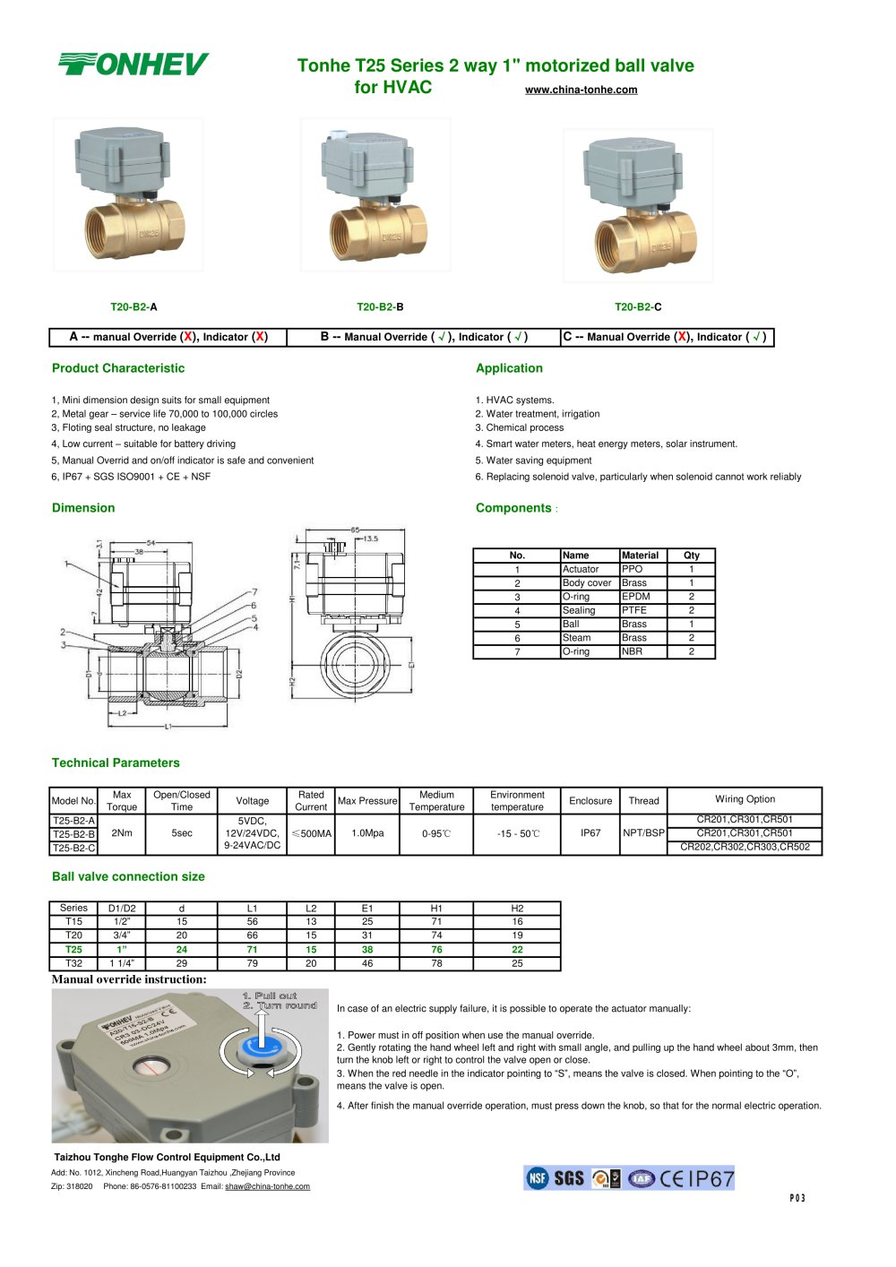 medium resolution of tonhe t25 series 2 way 1 motorized ball valve for hvac 1 1 pages
