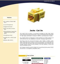 lpjackcat5e ss enb01w modular jacks cat 5e 1 1 pages [ 1000 x 1294 Pixel ]