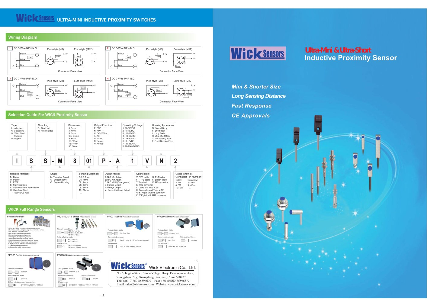 hight resolution of wick ultra mini shorter inductive proximity switches 1 2 pages