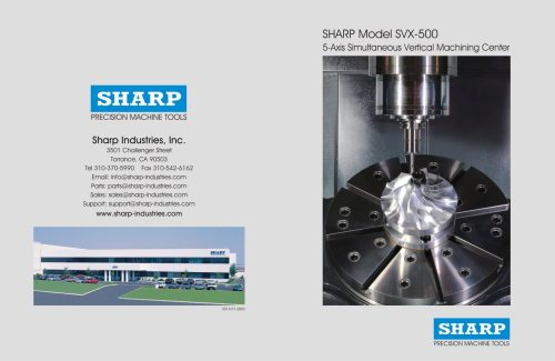 small resolution of sharp model svx 500 5 axis simultaneous vertical machining center 1 8 pages