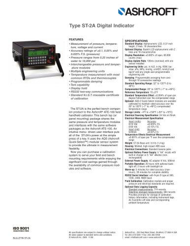 Tous les catalogues et fiches techniques (PDF) ASHCROFT