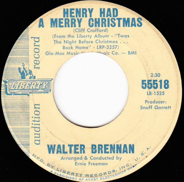 "Walter Brennan's Folksy Tale of ""Henry Had a Merry Christmas"" 1"