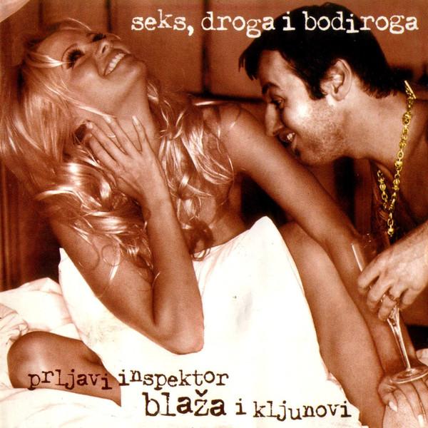 """Omot albuma """"Seks, droga i Bodiroga"""" Prljavog inspektora Blaže i Kljunova iz 1998. godine."""
