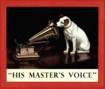 Afbeeldingsresultaten voor his masters voice