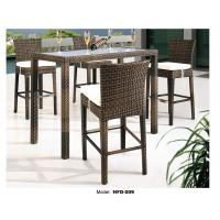 high top patio table and chairs fishing chair forum wicker rattan bar with
