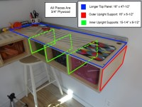How to Build a Wall Mounted Stand Up Desk   DiyDork.com