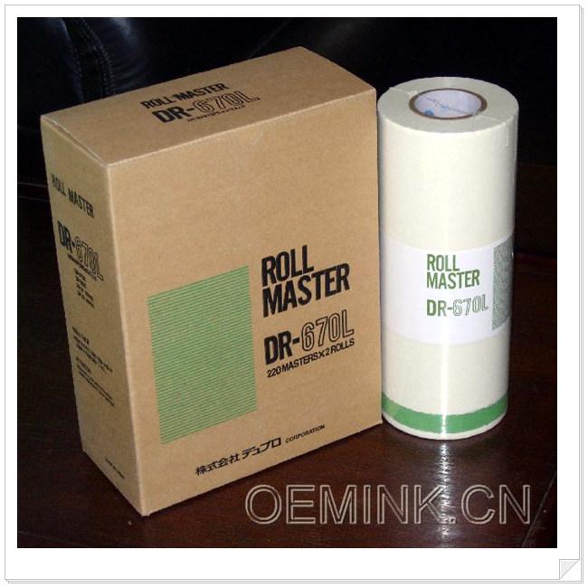 得寶DUPLO 670L 熱敏蠟紙 熱敏版紙 - 產品目錄 - 北京市 - 北京市立達成辦公設備經營部