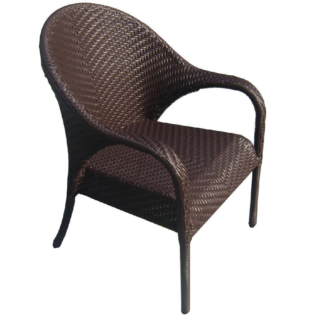 PE rattan plastic chair outdoor leisure beach chair  D053  AKANDO China Manufacturer