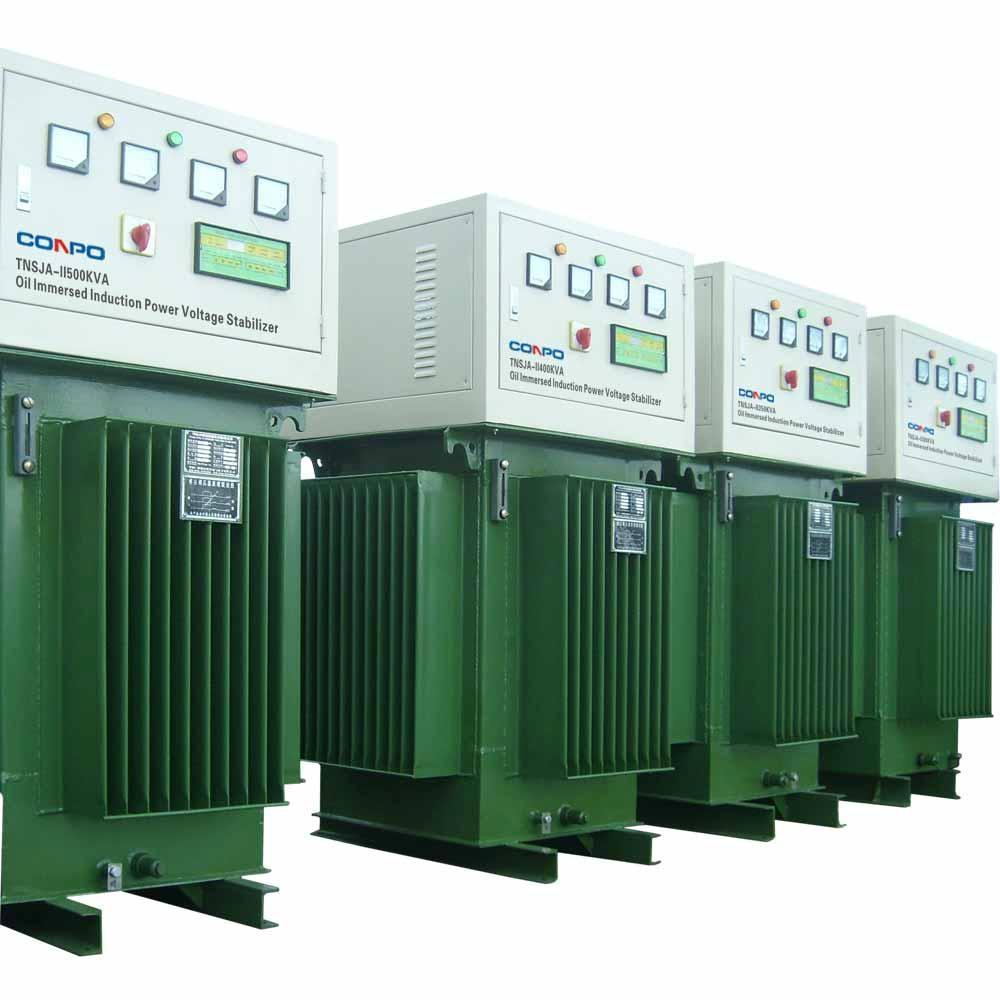 hight resolution of oil type immersed induction voltage stabilizer regulator tnsja ii 500kva 1