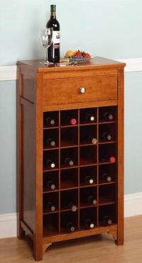 24 Bottles Wine Rack Small Home Bar Cabinet Furniture For