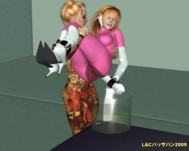 戦隊ヒロイン「レズ・肉人形化計画」